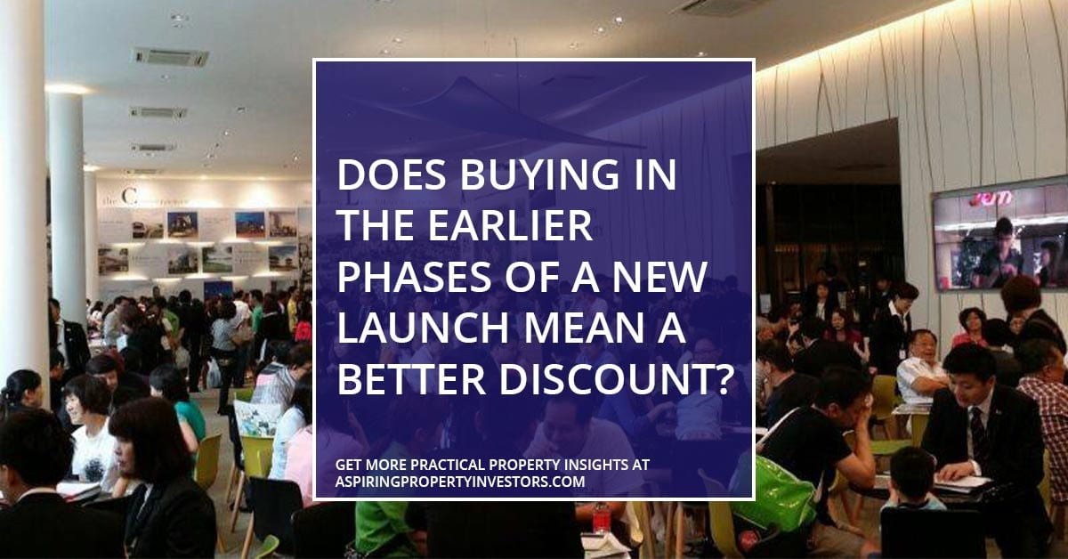 Does buying in the earlier phases of a new launch mean a better discount?