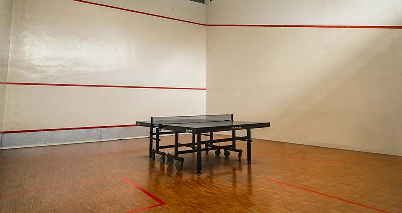 squash court not used