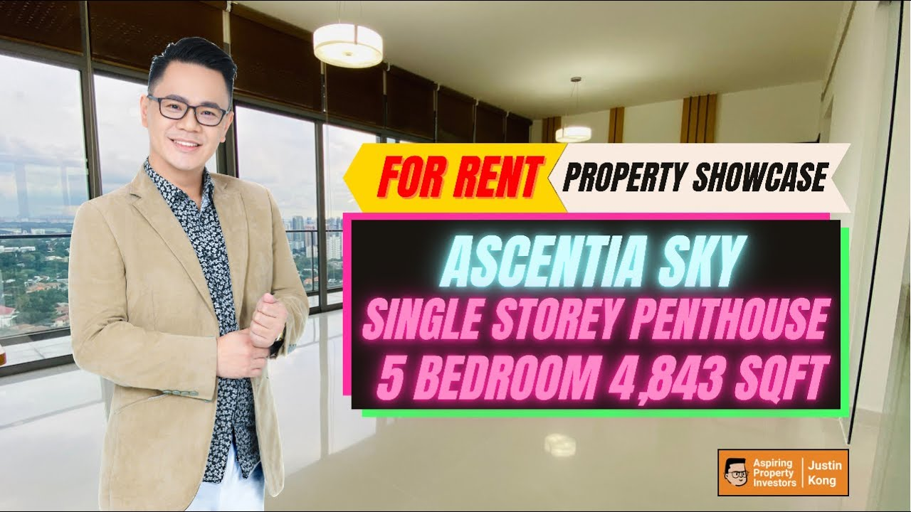 Rare 5rm Single Storey Penthouse With Panoromic Views in Ascentia Sky for Rent by Justin Kong